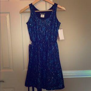 Girls fancy blue sequins dress size 16